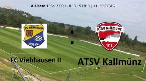 Spieltag 11: FC Viehhausen II vs ATSV Kallmünz @ Sportgelände Viehhausen, Platz 1
