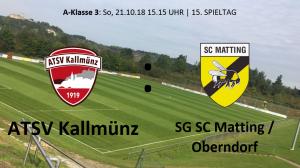 Spieltag 15: ATSV Kallmünz vs SG SC Matting/TV Oberndorf II @ Martin-Würdinger-Gedächtnisanlage