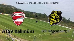 Spieltag 20: ATSV Kallmünz vs BSC Regensburg II @ Martin-Würdinger-Gedächtnisanlage
