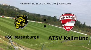 Spieltag 7: BSC Regensburg II vs ATSV Kallmünz @ Sportpark am Brandlberg, Platz 1