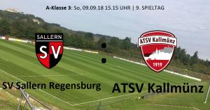 Spieltag 9: SV Sallern Regensburg vs ATSV Kallmünz @ Sportgelände Sallern, Platz 1