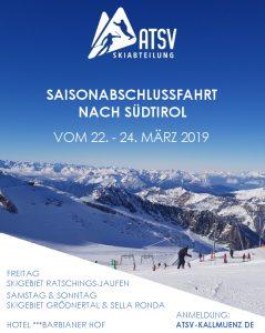 Saisonabschlussfahrt @ Südtirol